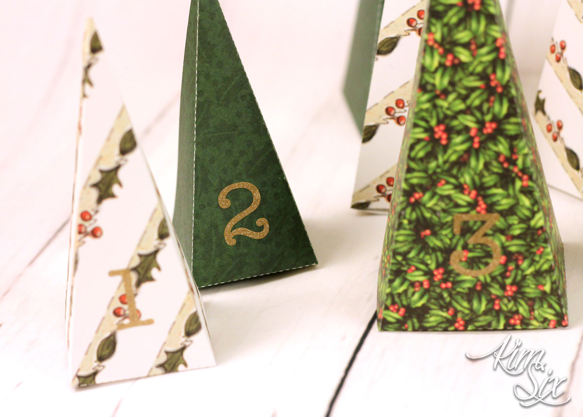 Paper pyramid christmas countdown