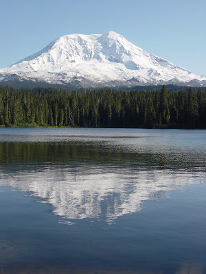 Photo of Mt. Adams from the campground. What a beautiful shot! Photo taken on October 11, 2008.