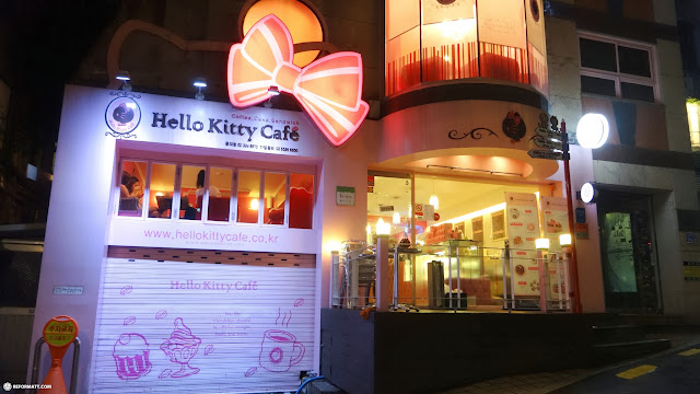 the Hello Kitty Cafe in Hongdae, Seoul in Seoul, Seoul Special City, South Korea