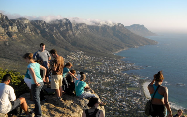 On top of Lions Head waiting for sunset