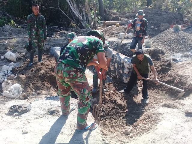 PROGRAM TMMD KE - 102 KEPULAUAN SELAYAR DIBACK UP 150 PERSONIL TNI GABUNGAN DAN 22 OPD