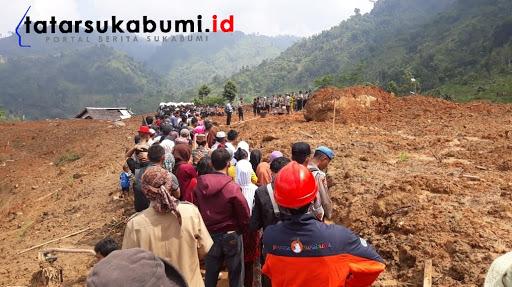 Lokasi Bencana Longsor Cisolok Sukabumi/ Foto : Isep Panji (7/1/2019)