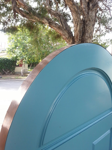 We custom fitted this copper cap on this La Jolla Gate