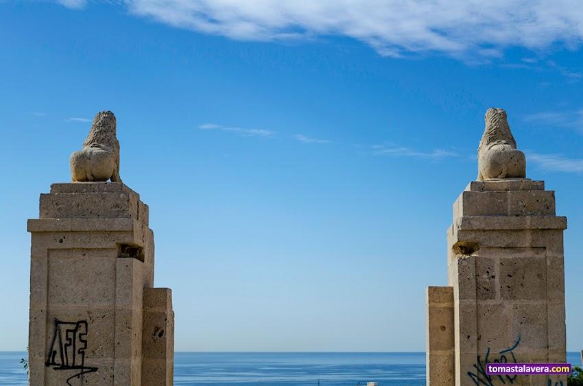 Nikon D5100, 18-55 mm, Edificios y Monumentos, Castillos, Castillo de San Fernando, Alicante, Cielo, Horizonte, Mar,