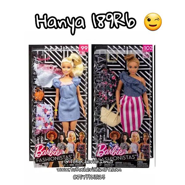 Jual Barbie FASHIONISTA Dolls 99 dan 102 Diskon Murah Grosir Ecer Original Mattel