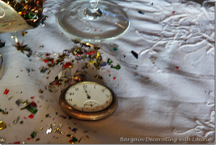 Pocket Watch for New Year's Table Decor
