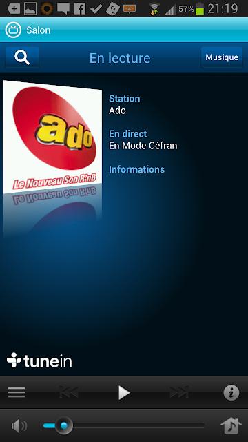 Webradio via le mobile