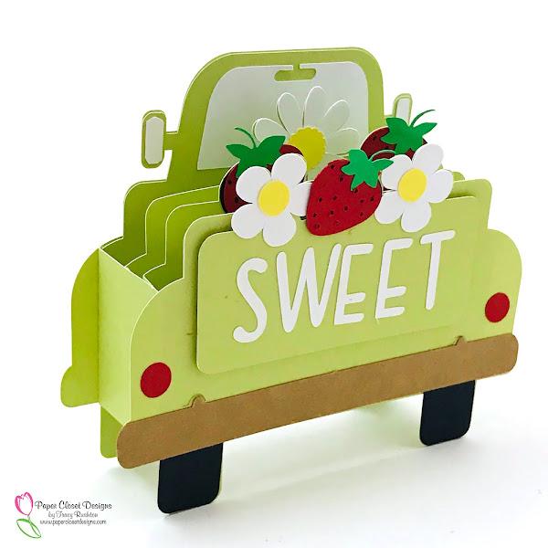 Vintage Truck Box Card Strawberries