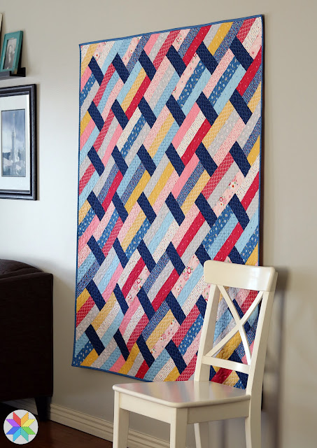 Fast Track pattern by Andy of A Bright Corner - with Pure Delight fabrics from Riley Blake Designs - a fast quilt pattern that uses jelly rolls or fat quarters