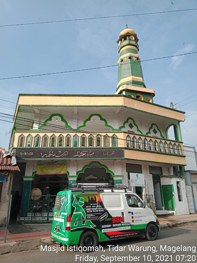 Bersih masjid Istiqomah Tidar Warung Magelang