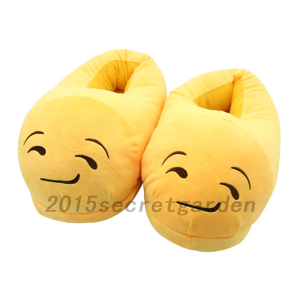 homme chausson frmme pantoufle emoji mule d 39 hiver chaud. Black Bedroom Furniture Sets. Home Design Ideas