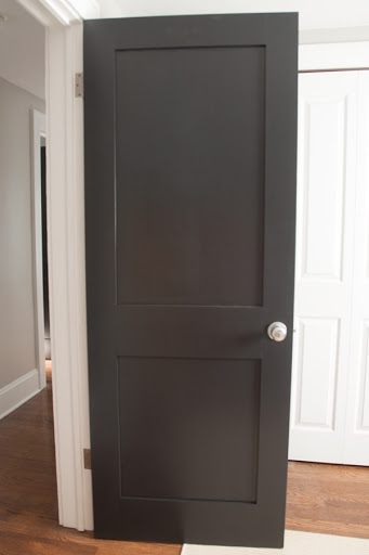 Painted Black Interior Doors