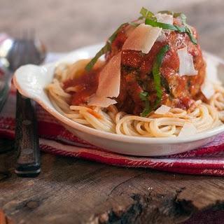 Jumbo Meatballs and Spaghetti