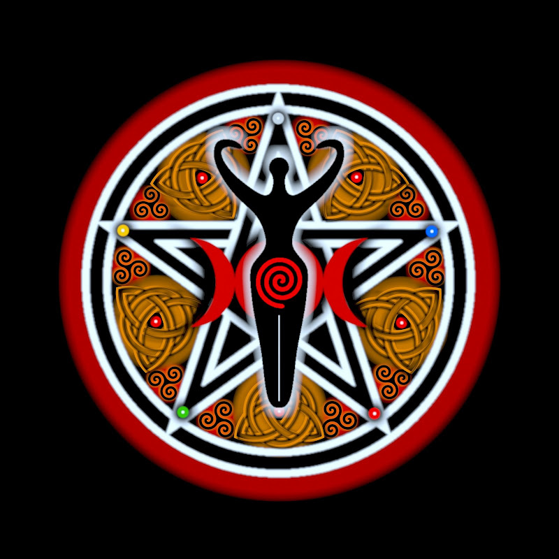 Red Goddess Pentacle, Celtic And Druids