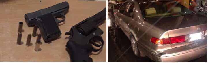 PN apresa en SDE a 4 asaltantes; le ocupa 2 armas, un carro, una motocicleta y 11 celulares