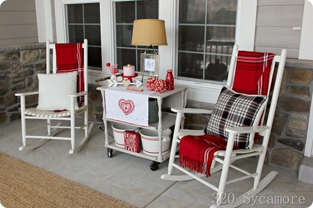 valentine porch decor