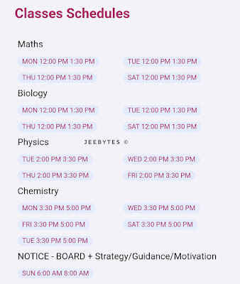 accelerate Batch Classes Schedules