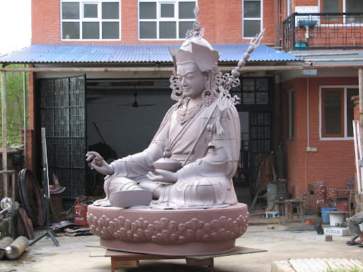 A large statue of Padmasambhava in Bhutan recently completed that Lama Zopa Rinpoche often uses as an example