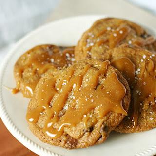 Caramel Triple Chocolate Chip Cookies