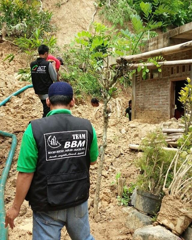BBM Peduli Bencana tanah longsor di Magelang dan sekitarnya