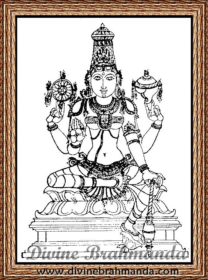 Soundarya Lahari Sloka, Yantra & Goddess To Cure All Eye & Ear Diseases - 52