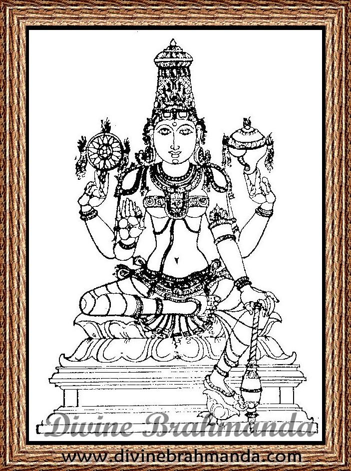 Soundarya Lahari Sloka, Yantra & Goddess To Cure All Eye & Ear Diseases - 52