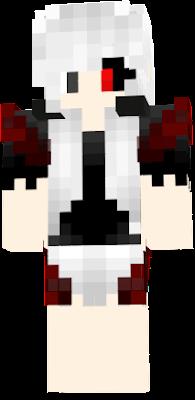 Kaneki Girl Nova Skin - Skins para minecraft pe de kaneki