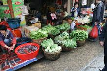Xiamen : marché, légumes