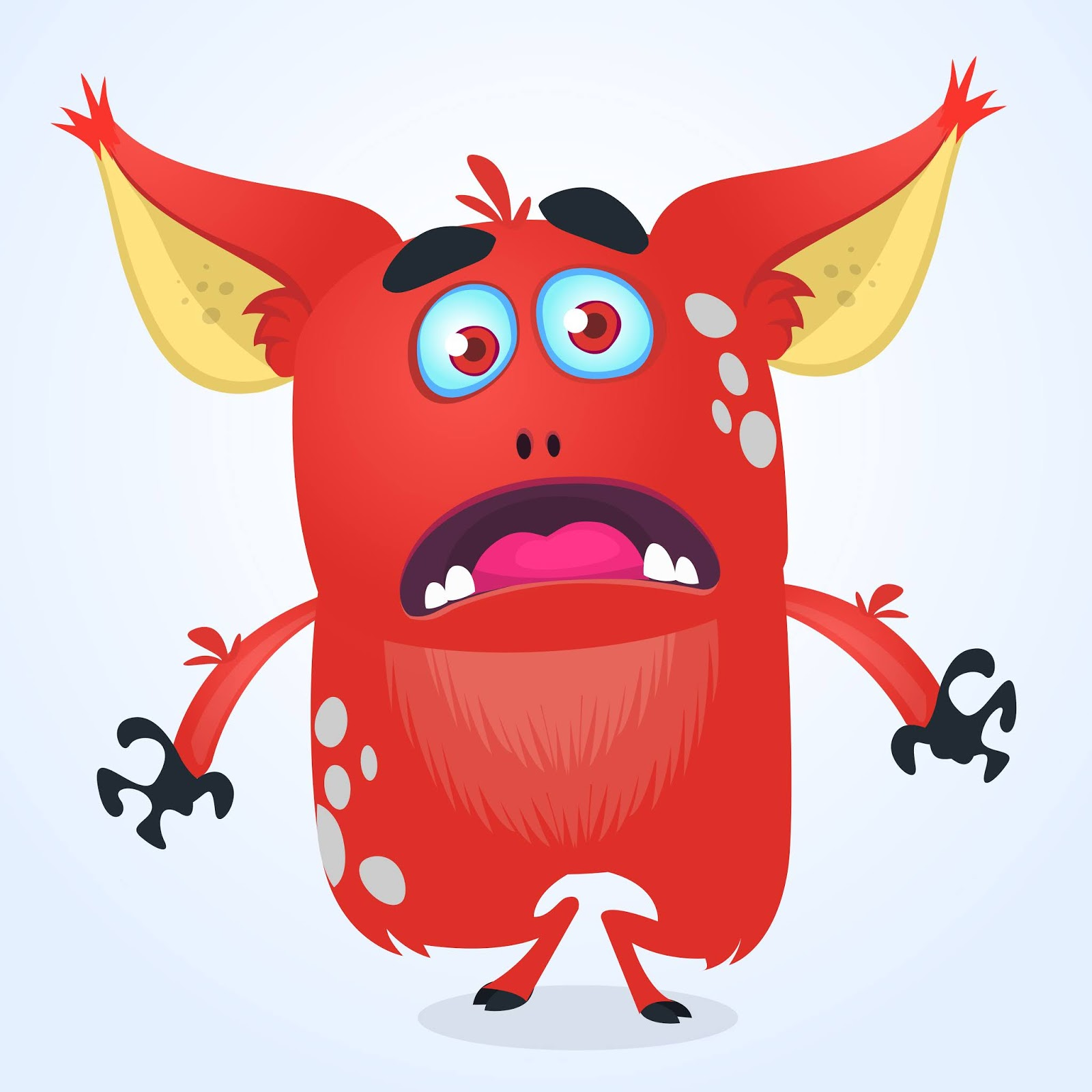 Angry Cartoon Monster Halloween Free Download Vector CDR, AI, EPS and PNG Formats