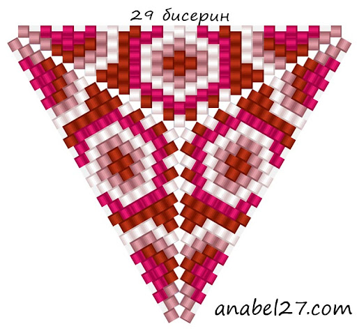 схемы треугольников из бисера бисероплетение мозаика peyote patterns