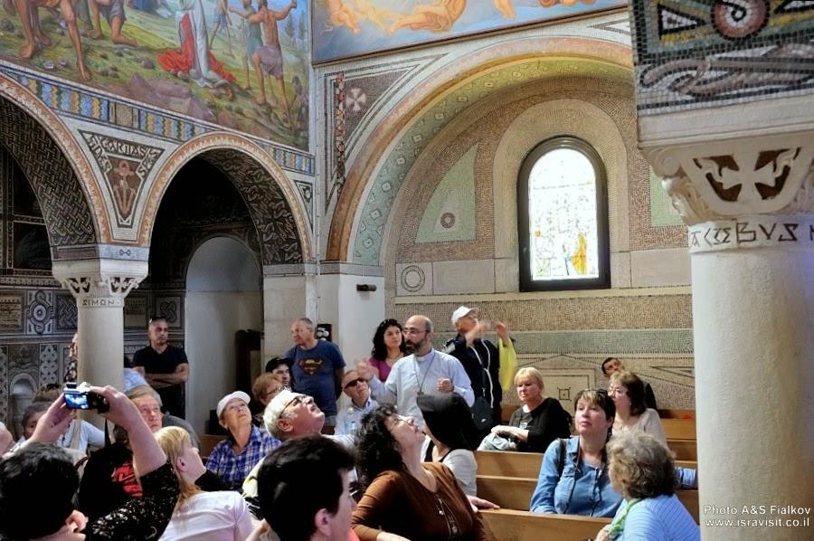 Итальянский католический монастырь Бейт-Джамаль. Экскурсия Монастыри в Иудейских горах и сталактитовая пещера Сорек, гид Светлана Фиалкова.