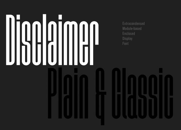 Disclaimer Free Fonts