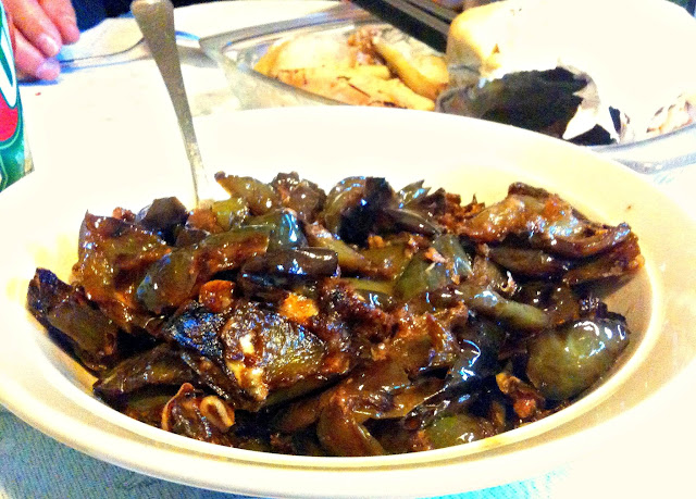 Fried peppers or peperonata.