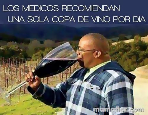 Exceso de beber vino