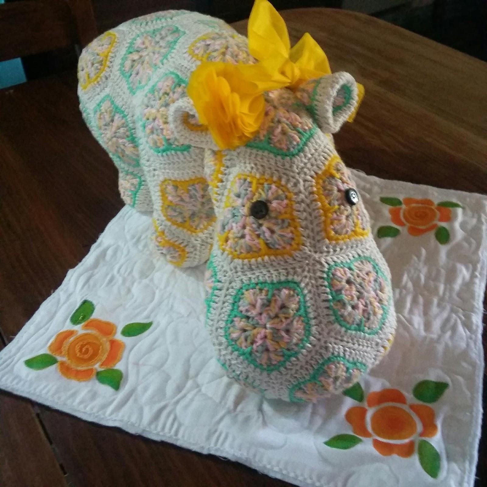 No me olvides Crochet: Hipopótamo crochet. Patrón paso a paso!!