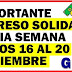 Importante Ingreso Solidario inicia Semana Pagos INICIA 16 de Noviembre