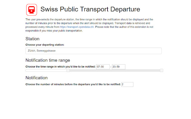 Swiss Public Transport Departure