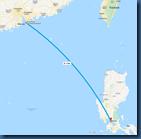 Flug HKK -Manilla
