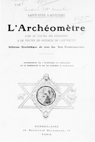 Cover of Saint Yves D'Alveydre's Book L'Archeometre (1909,in French)