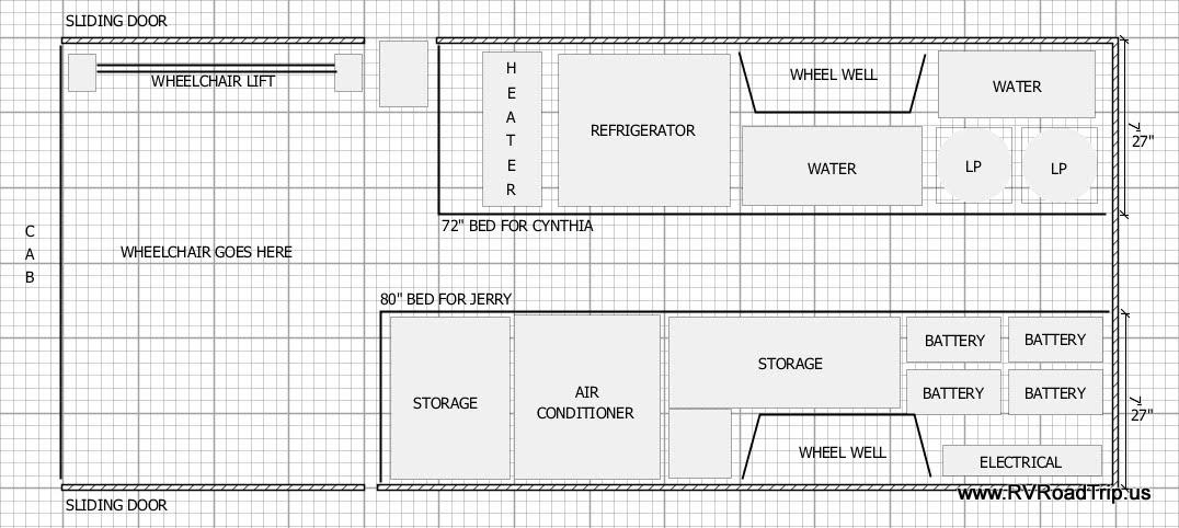 Ram Promaster Camper Van Conversion Floor Plan
