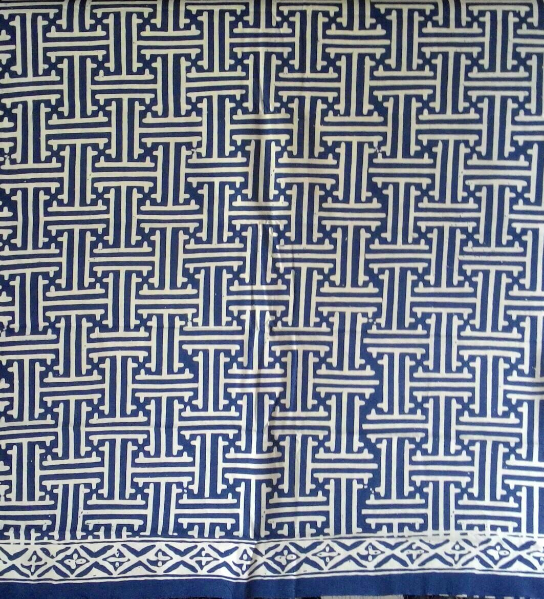 Batik Bnc Collection Kain Batik Garutan Cap Motif Rereng Bilik Biru