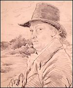 William Blake Pencil Portrait, William Blake