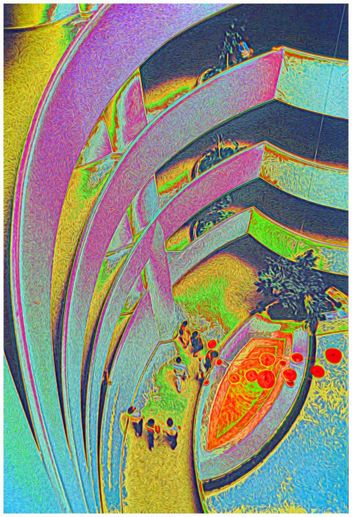 """Guggenheim Museum Abstract"" by Bill Black - Honorable Mention General M"