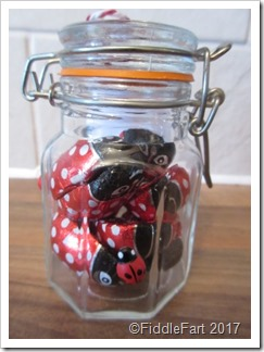 Valentines Day Favour Chocolate Ladybirds in a Jar