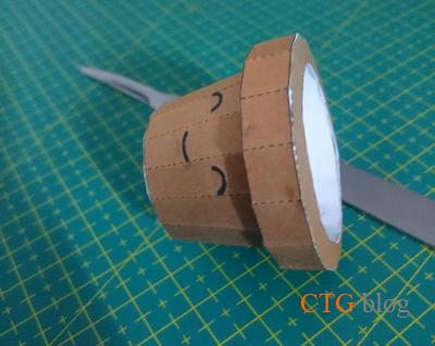 Flower heart pot papercraft