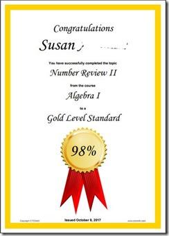 ctc math certificate