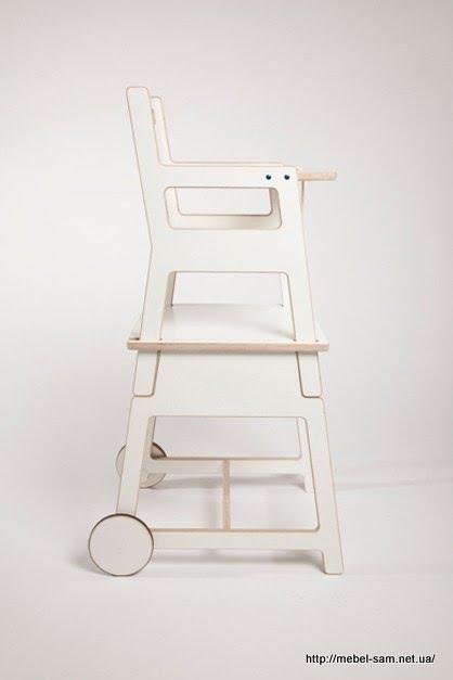 Вид на фанерный стульчик с боку