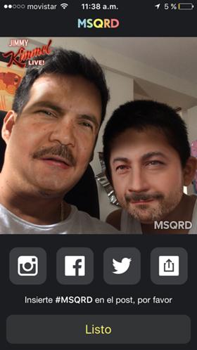 Cómo compartir nuestras fotos de MSQRD
