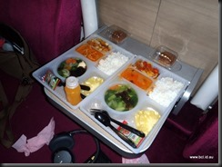 SRT 1st Class Sleeper Food