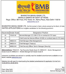 BMB Bank Recruitment 2016 indgovtjobs